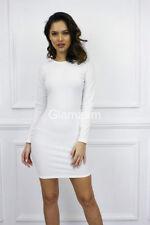 Vestiti da donna bianchi party senza maniche