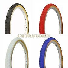 "2 Tires 24x1.75"" BMX 24"" Red Blue BLACK GUM WALL Comp 3 design bike"
