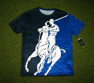 Men's (L) POLO-RALPH LAUREN All-Over BIG PONY Print Crewneck T-Shirt