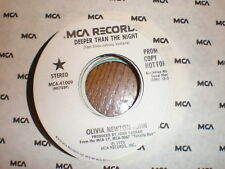 Olivia Newton John 45 Deeper Than The Night PROM MCA