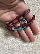 Miansai Burgundy Leather Bracelet w/ Turquoise Hook