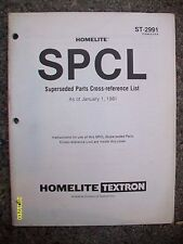 Vintage 1981 Homelite Textron SPCL Parts Cross Reference List 54-pages