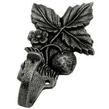 Strawberry Plant Coat Hook Pewter Finish, Solid Brass, Hickory-Belwith P27710-AP