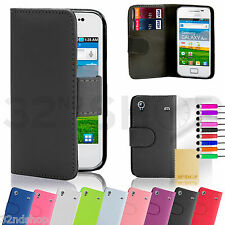 32nd Book Wallet Case Cover Samsung Galaxy Ace Phones + Screen Protector