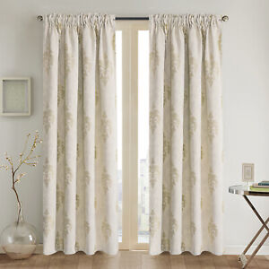 Thermal Insulated bedroom Jacquard Blackout Curtain Tape Top 3 size drop 1pair