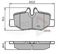 Comline ADB01306 Brake Pad Set