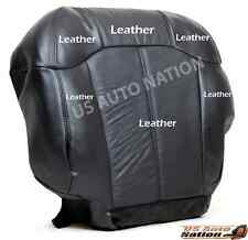 2001 2002 Chevy Silverado Driver Bottom Leather (Heated) Seat Cover Dark Gray