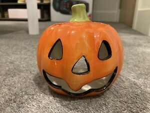 Halloween Pumpkin Tealight Candle Holder Scary Gothic