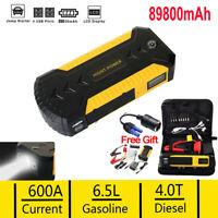 89800mAh 12V Car Jump Starter 4 USB Power Bank Booster Battery Charger LED Torch