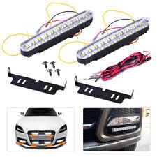 2x 30 LED Car Daytime Running Light Driving Lamp Turn Signal Fog Light Strip set