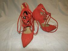 "TONY BIANCO Coral Lace-Up Suede Stiletto Heels ""Foxi"" - Size 5"