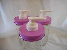 Mason Jar Lotion & Soap Dispenser Converter Lid -Several Colors and Set Choices!