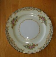 2 Vintage Noritake China Bread Plates Off White Gold Trim Pink Blue Flowers