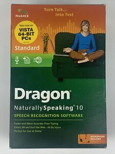 Nuance Dragon Naturally Speaking Standard Edition 10 Speech Recognition Software