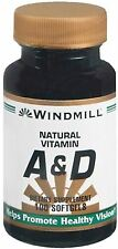 Windmill Vitamin A and D Softgels 100 Soft Gels (Pack of 2)