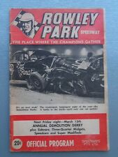 1968 MARCH 8TH ROWLEY PARK SPEEDWAY OFFICIAL PROGRAM MEETING NUMBER 17 1967/1968