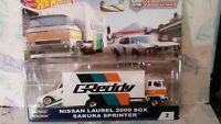 HOT WHEELS 1/64 CAR CULTURE TEAM TRANSPORT NISSAN LAUREL 2000 SGX SAKURA new