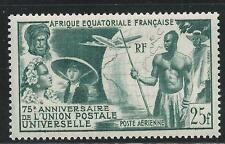 FRENCH  EQUATORIAL  AFRICA,  C-34,  MNH,  UNIVERSAL POSTAL UNION,  1949