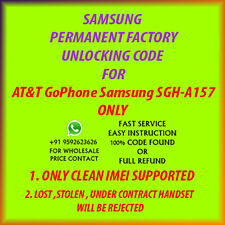 Samsung SGH A157  UNLOCK CODE AT&T GoPhone NO OR OUT OF CONTRACT PHONE ONLY