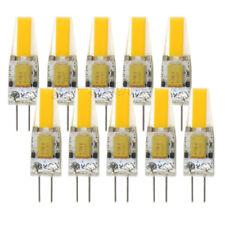 10pcs G4 Bi-Pin 1505 COB LED Light Bulb RV Boat Crystal Lamp 12-24V Warm White