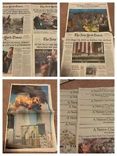 New York Times 9/11 Newspaper Collection US Attacked World Trade Center 2001