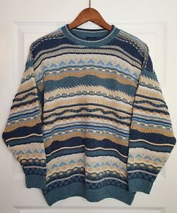 The Sweater Shop Mens Small Knitted Jumper Classic Rare Vintage Retro Made In UK