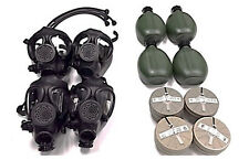 4 M-15 Survival Gas Masks Family Completed Kit - W/ 40 Mm Nbc Filter
