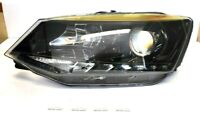 Skoda Fabia 15-17 LED DRL Black Headlight Headlamp Left EU CAR N/S OEM Hella