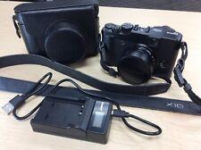 Fuji Fujifilm X10 12.0MP Digital Camera Black with Case&Charger - SHIPS FREE!