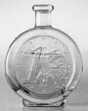 """10 x Spirituosenflasche """"EURO"""" 0,2 l weiß,Ringmündung mit Holzgriffkorken"""