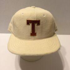 Vintage Double Knit Letter T Baseball Cap Trucker Winter Hat Overalls Snapback