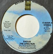 "Eagles The Long Run Disco Strangler Rock 45 7"" Vinyl Plays Well Extras Ship Free"