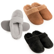 Gold Toe Womens House Slippers Soft Memory Foam With Sole Comfort Loafers Women