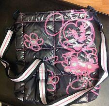 Disney Minnie Mouse Authentic Original Black/Pink Handbag Shoulder NWOT