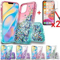 For iPhone 12 Mini/12 Pro/12 Pro Max Case Phone Cover+Tempered Glass Protector