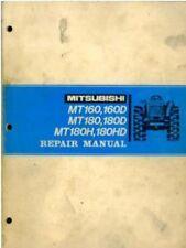 MITSUBISHI TRACTOR MT160 MT160D MT180 MT180D MT180H WORKSHOP SERVICE MANUAL