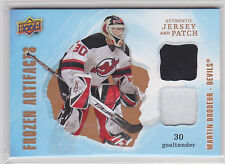 2008 08-09 Artifacts Frozen Artifacts Jersey Patch Combo Martin Brodeur 17/50