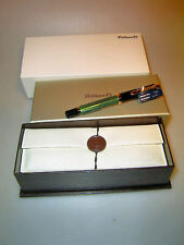 Pelikan m800 pluma estilográfica, verde a rayas, Box