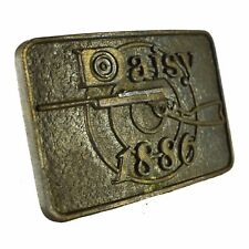 Astamar Boston Belt Buckle Daisy 1886 Red Ryder Rifle Vintage Metal Square