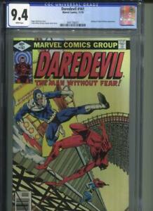 DAREDEVIL #161 CGC 9.4 Bullseye & Black Widow Appearance Frank Miller