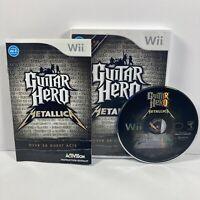 Guitar Hero: Metallica (Nintendo Wii, 2009) Complete CIB Tested