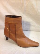 Roberto Vianni Brown Ankle Leather Boots Size 38.5