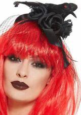 Black Crow Headband Halloween Headpiece Fancy Dress Accessory Ladies New