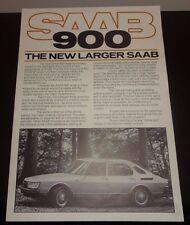 SAAB 900 brochure poster