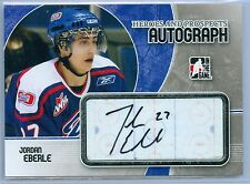 JORDAN EBERLE 2007-08 ITG IN THE GAME HEROES PROSPECTS ROOKIE AUTO AUTOGRAPH SP