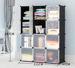 Plastic Storage Wardrobe Clothes Organizer Closet Cupboard Shoe Cabinet
