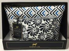 2 pc Dabney Lee Cosmetic Bag Pouch Travel Wristlet Purse Navy Gift Set NIP
