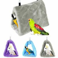 Parrot Bird Hammock Hanging Cave Cage Plush Snuggle Happy Hut Tent Bed Bunk Toys