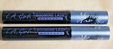 Lot of 2 L.A. La Girl Booming Lash Mascara Eye Makeup Very Black New Gms625