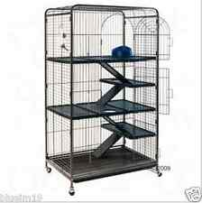 Large Cage Chinchilla Ferret Squirrel Pet Home 3 Tier Wheels Ladders Removable T